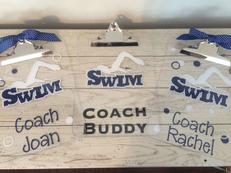 Gifts for our swim coaches given by the 2016 Senior Class.