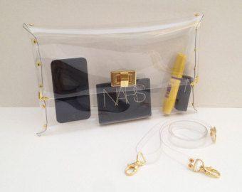 Bolsa de embrague claro transparente plástico por YPSILONBAGS