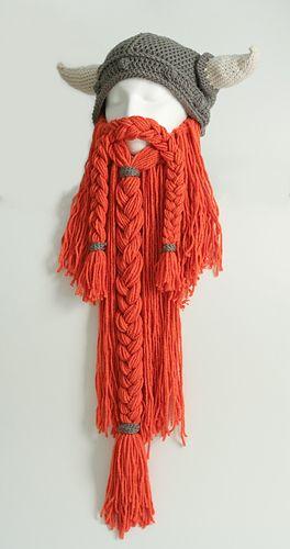Crochet Viking Beanie Hat & Beard - Pattern Download