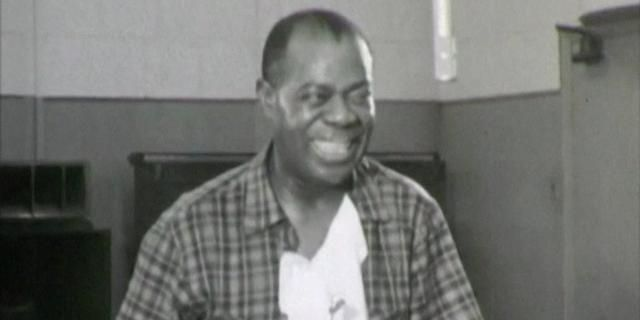 For the first time ever, jazz fans are being treated to the only known footage of Louis Armstrong in the recording studio.