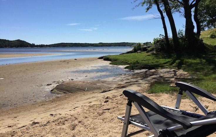 Familievennlig campingplass i omgitt av flott natur og idyllisk sandstrand