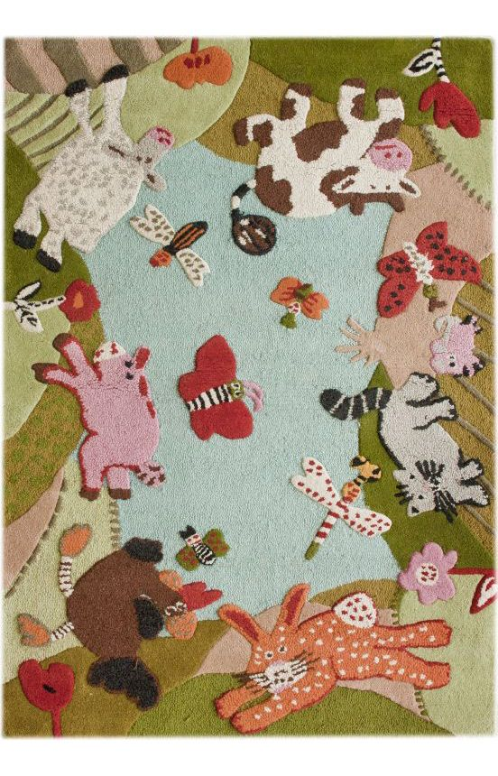 Animal Land Rugs. Great Area Rug For Kids Room Or Children In General.