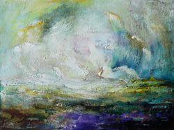 Távolban - Kortárs festő olaj festménye, Egyházashetye [Pepita Hirdető]