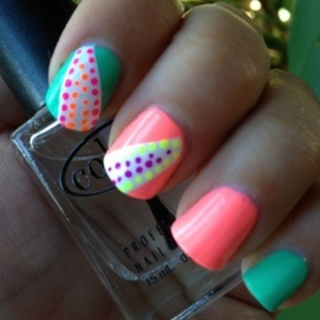 49 Best Neon Nail Polish Images On Pinterest