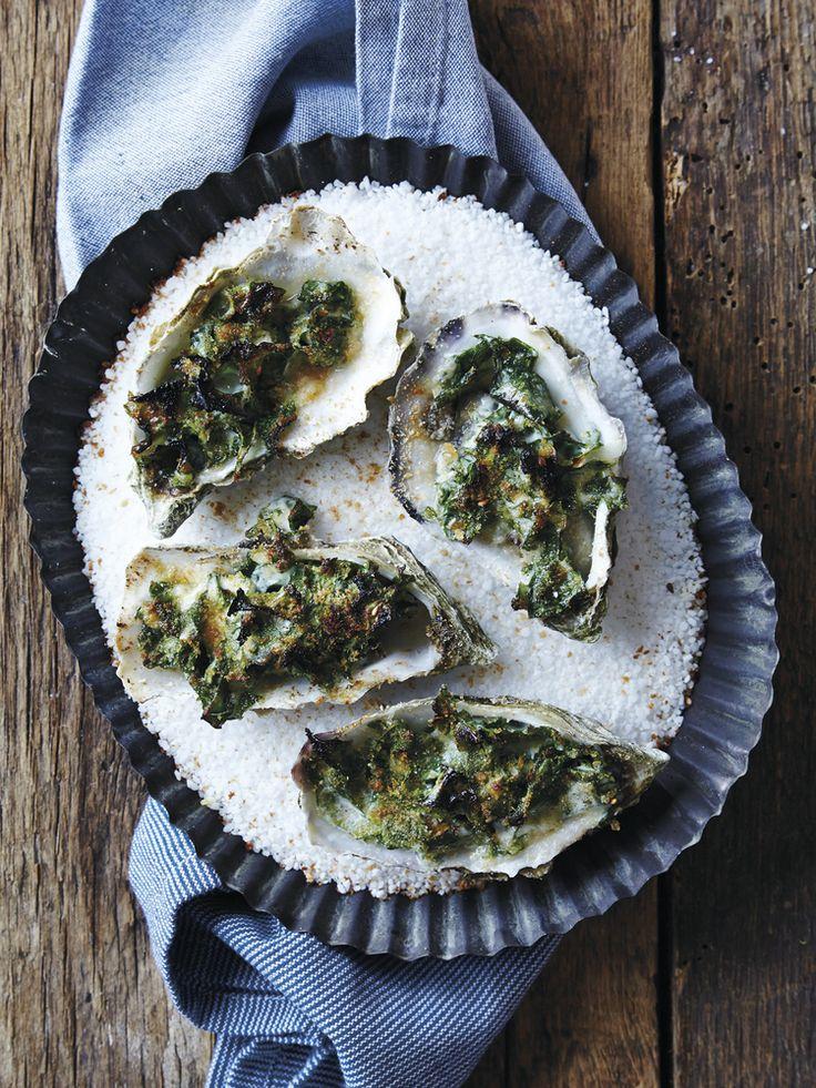 Gratinerte østers. Trykk på bildet for oppskrift.
