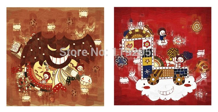 Комикс фотографии картина на холсте птицы и туннели картина маслом брезент печатает два панели