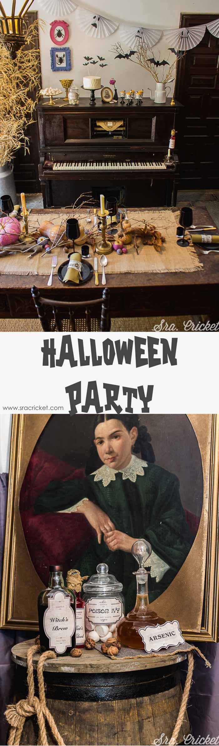 Fiesta de halloween infantil; cena de halloween para niños;  Decoración de halloween para cena #halloweeen #party #manualidades #decoration #crafts #carteles #kids #infantil