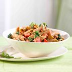 Grandiose Nudeln mit Tomaten und Spinat