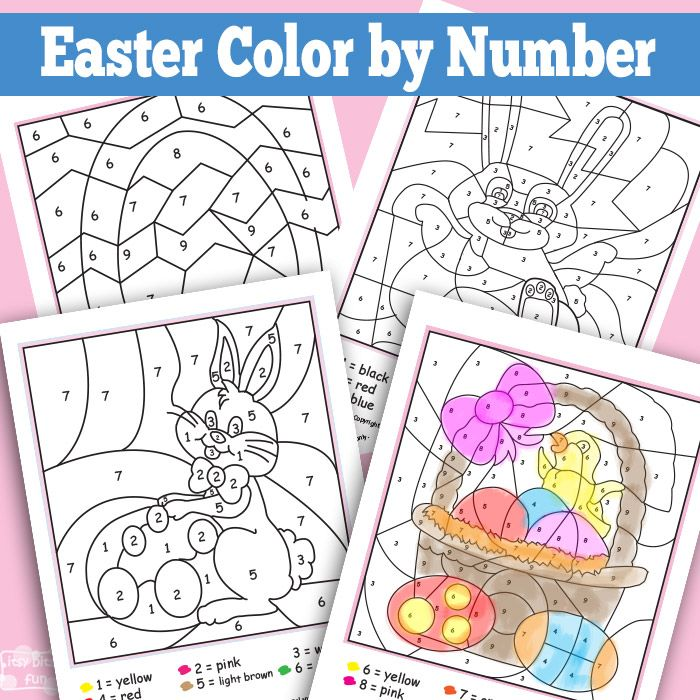 Easter Color by Numbers