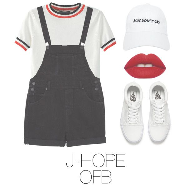 Picnic with BTS by mazera-kor on Polyvore featuring mode, WithChic, Monki, Vans, Nasaseasons, Lime Crime, bts, Jhope and hoseok