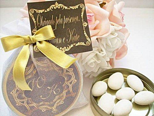 Latinha personalizada com amendoas | Lembrancinhas de Casamento