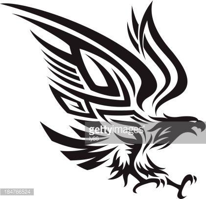 Arte vectorial : Tribal eagle