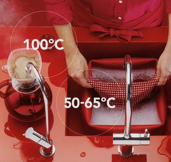 With this device, you can choose the temperature of your tap water. Make coffee right out of your faucet.