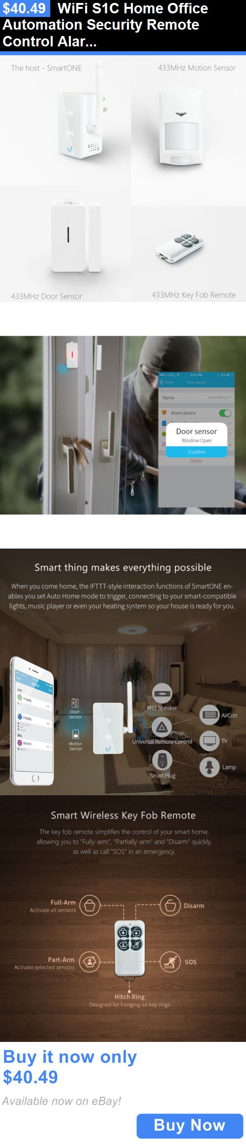 Home Automation Kits: Wifi S1c Home Office Automation Security Remote Control Alarm System Ios BUY IT NOW ONLY: $40.49