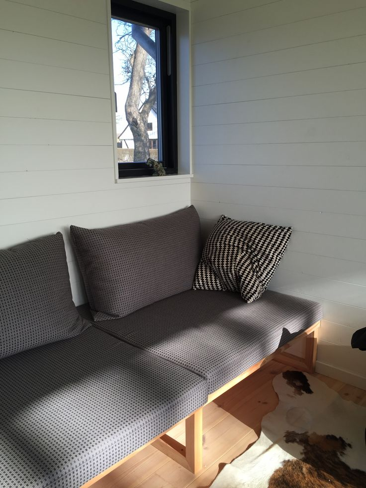 relaxing corner with custom made daybed