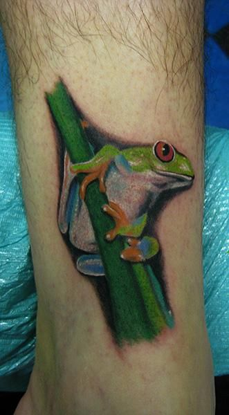 Daniel Chashoudian - red eyed tree frog tattoo
