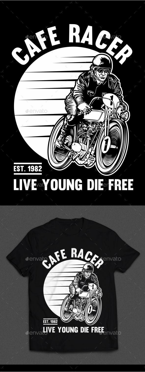 Design t shirt motor - Cafe Racer T Shirt Design