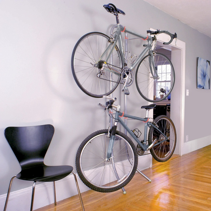 Michelangelo 2 Bike Gravity Storage Rack -- Delta Cycle: no screws required!