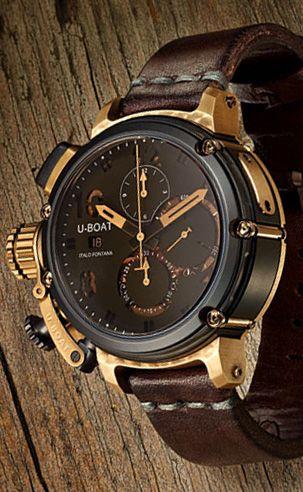 U-Boat U-51 Bronze 6496 Watch - Watchismo is an Authorized U-Boat Dealer  c79312367