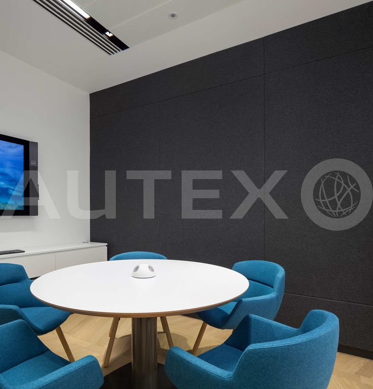 Autex Interior Acoustics - Cube™ - Freshfields Bruckhaus Deringer, London, Uk - Custom Cube Meeting Rooms - Colour: Empire - Modern Office Space