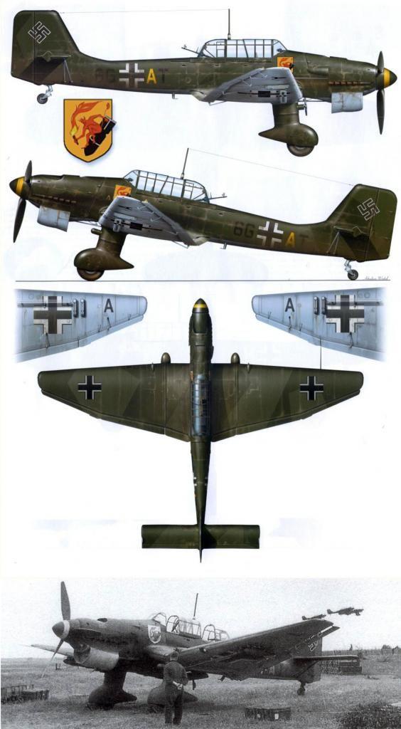 Junkers Ju 87D 500 kg bomb   World War Photos