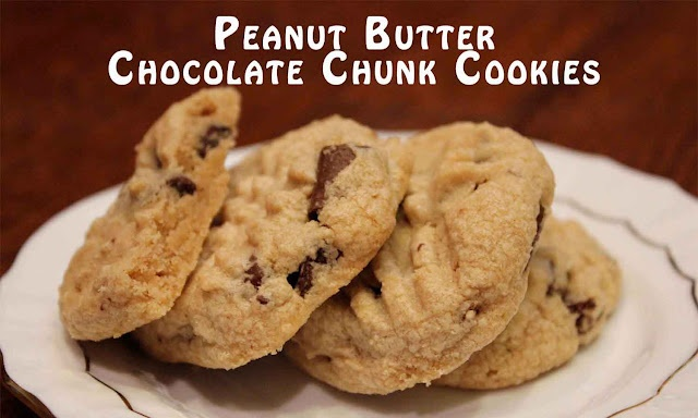 peanut butter chocolate chunk cookies | Baked Goodies | Pinterest