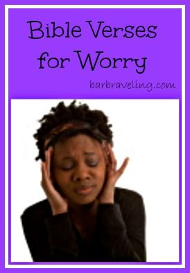 20 Bible Verses you can pray through and meditate on when you're worried.