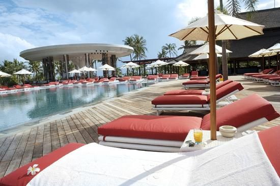 Lounging by the pool at Club Med Bali!