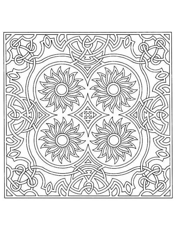 challenging mandala coloring pages - photo#18