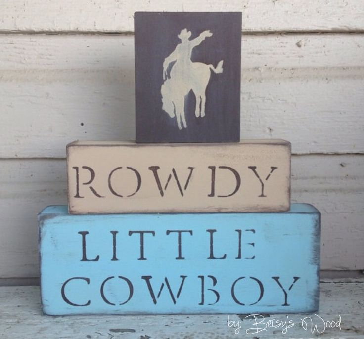 N U R S E R Y // Cowboy Nursery Blocks little boys by BetsysWood, $38.00