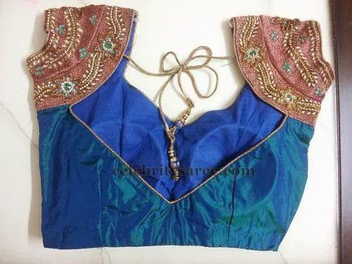 V Neck Silk Blouse Designs | Saree Blouse Patterns