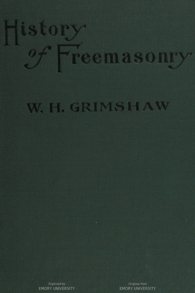 official history of freemasonry among the colored people in hathitrust - Colored People Book