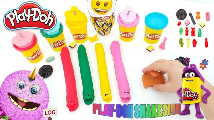 Learn to colors and count together with playdoh & funny snakes |cake molds