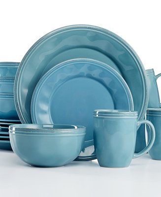 Rachael Ray Cucina Agave Blue 16-Pc. Set, Service for 4 - Rachael Ray - Kitchen - Macy's