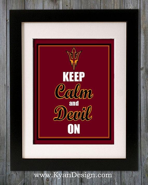 Arizona State University Sun Devils  Keep Calm Print by KyanDesign, $9.95
