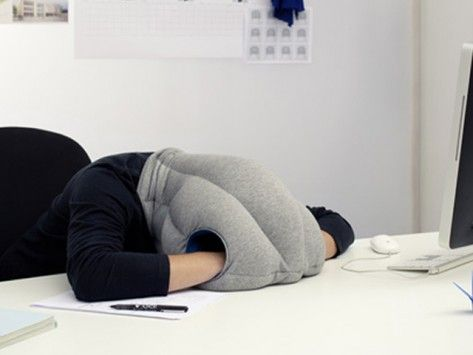 Napping Pillow by Ostrich Pillow *Pure genius!!!  I mean, sure...I may have gotten fired because of it but BOY is this a great idea for those desk naps at work when you're not feeling well.  #NerdGirlChicApproved ;)