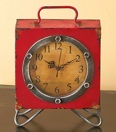 A great addition to any space, this Vintage Table Clock features both a retro design and a secret compartment.Use it to store extra batteries or hide valu