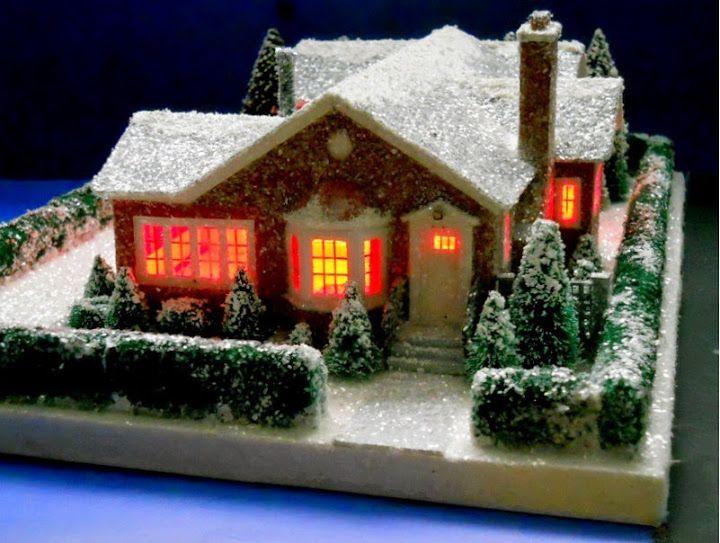 197 best Glitter Cardboard Christmas Houses images on Pinterest ...
