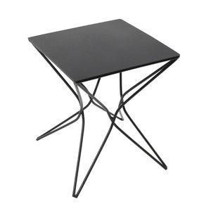 Černý odkládací stůl Serax Niku, 30x30cm