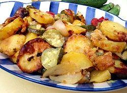 Briami - czyli pieczona cukinia z ziemniakami po grecku