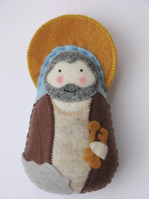 Saint PeterFelt Softie by SaintlySilver on Etsy, $18.00 gift for my godson's baptism? his name is peter..