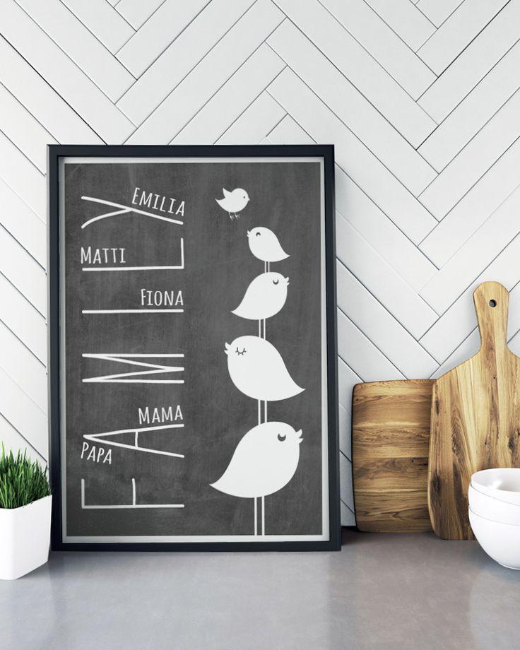 Met de poster editor zelf online Family Prints maken en direct een preview van je gepersonaliseerde poster bekijken. Vanaf €8,50 - Gratis bezorgd!