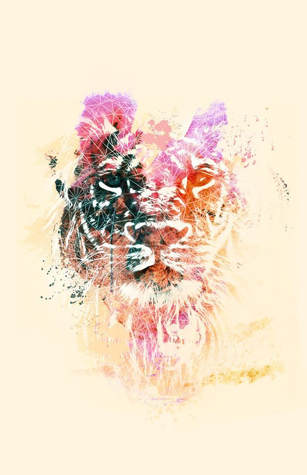 lion head abstract tattoo watercolor - Google Search