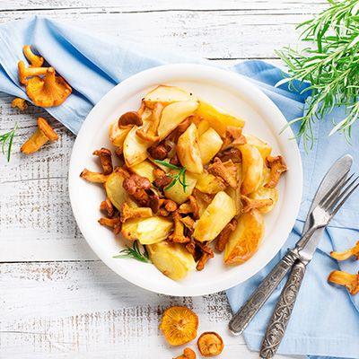 Kartoffelspalten mit Pfifferlingen - Powered by @ultimaterecipe