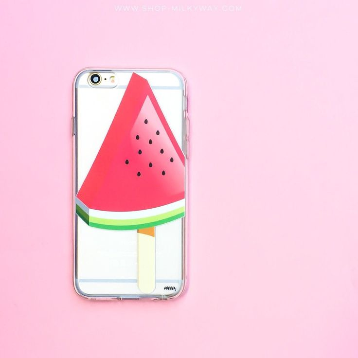 watermelon popsicle clear tpu case cover