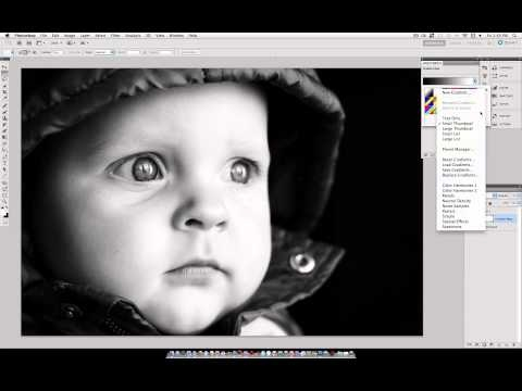 Photoshop cs5 tutorial dramatic black white portrait
