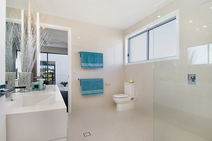 Create summer in your bathroom all year round with Amber Tiles - www.ambertiles.com.au
