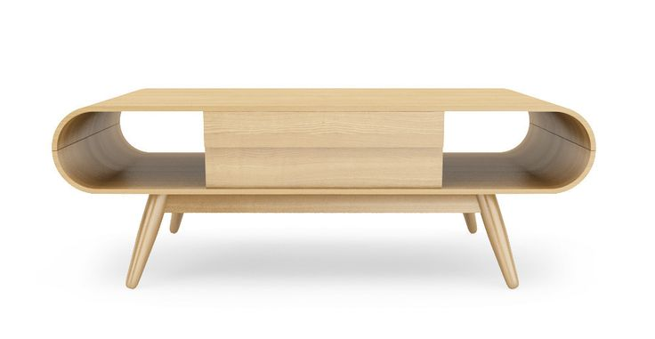 Picture of Claes Coffee Table with Storage Drawer - Natural Ash