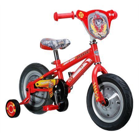 12 inch Paw Patrol Marshall Boys' Bike, Red