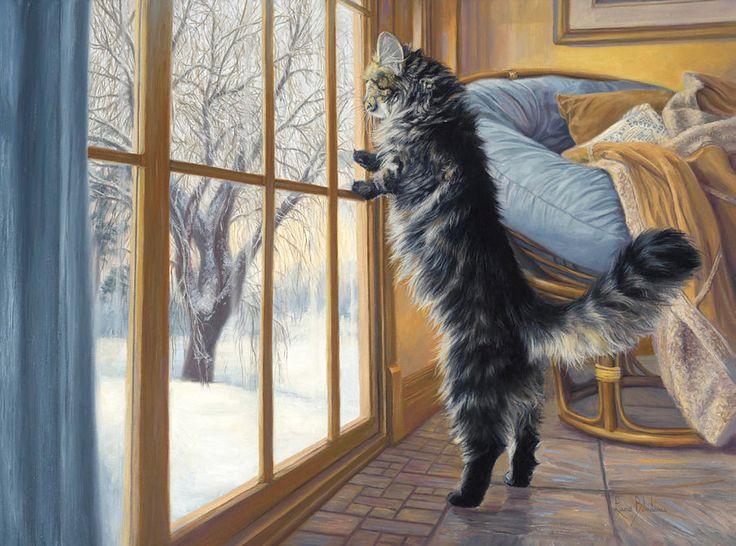 Канадская художница Lucie Bilodeau и ее кошки: подборка из ...